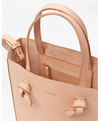 Simone Crossbody Shopper cuir naturel