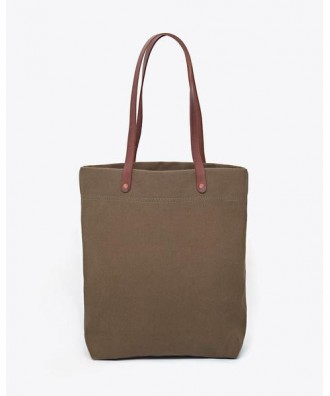 Canvas Tote Olive Green