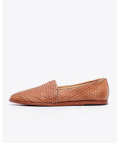 Alejandro Woven Slip-On Brown